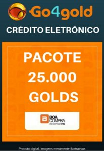 Crédito Go4Gold Boa Compra 25.000 Créditos Gold