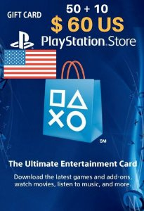 Cartão PSN Store Americana $60 Dólares - Playstation Network Card
