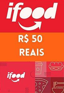 Vale Cartão Presente - iFood Card 50 Reais