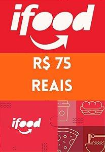 Vale Cartão Presente - iFood Card 75 Reais