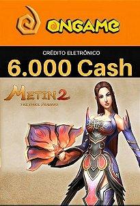 Cartão Metin 2 - 6.000 Cash - 6k Metin 2 Ongame