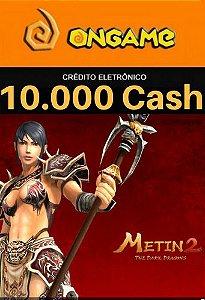 Cartão Metin 2 - 10.000 Cash - 10k Metin 2 Ongame