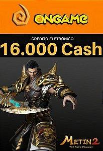 Cartão Metin 2 - 16.000 Cash - 16k Metin 2 Ongame