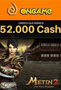 Cartão Metin 2 - 52.000 Cash - 52k Metin 2 Ongame