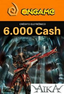 Cartão Aika - 6.000 Cash - Aika 6k Ongame