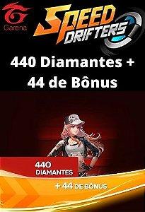 Speed Drifters - 440 Diamantes + 44 de Bônus [Recarga]