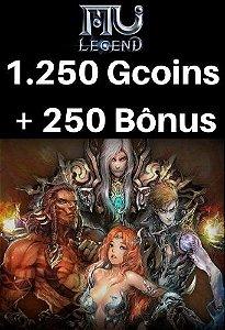 Mu Legend Pacote de 1.250 Gcoins + 250 Bônus