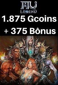 Mu Legend Pacote de 1.875 Gcoins + 375 Bônus