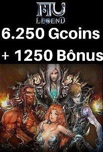 Mu Legend Pacote de 6.250 Gcoins + 1.250 Bônus