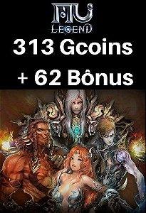 Mu Legend Pacote de 313 Gcoins + 62 Bônus