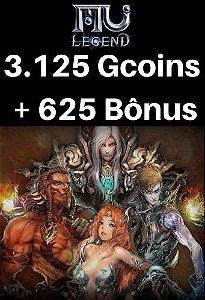 Mu Legend Pacote de 3.125 Gcoins + 625 Bônus
