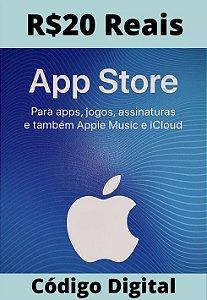 Cartão Itunes Apple Gift Card R$20 Reais - App Store Brasil
