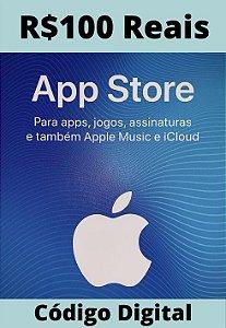 Cartão Itunes Apple Gift Card R$100 Reais - App Store Brasil