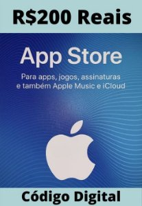 Cartão Itunes Apple Gift Card R$200 Reais - App Store Brasil