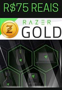 Cartão Razer Gold Pré-Pago R$75,00 Reais - Rixty Prepaid Game Card