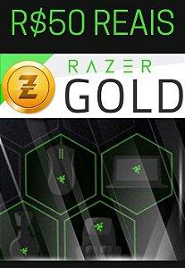 Cartão Razer Gold PIN Brasil R$50 Reais - Prepaid Rixty
