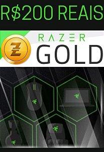 Cartão Razer Gold PIN Brasil R$200 Reais - Prepaid Rixty