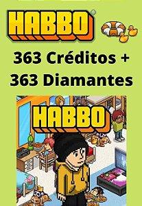 Habbo Hotel - 363 Créditos + 363 Diamantes