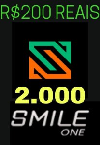 Moeda Smile One Coins R$200 Reais - 2000 Smile One