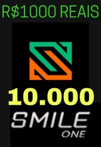 Moeda Smile One Coins R$1000 Reais - 10000 Smile One