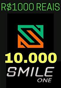 Moeda Smile One Coins R$1000 Reais - 10000 Smile One