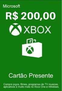 Cartão Presente Xbox Live R$200 Reais - Microsoft Gift Card