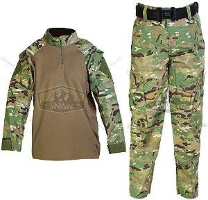 Uniforme Completo Conjunto Calça e Camisa Multicam