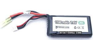 Bateria para Airsoft Lipo 2s 7,4v 1100mah 20c (PEQ)Parabellum