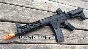 Rifle de Airsoft Calibre 6mm Elétrico Modelo Krytac Alpha CRB