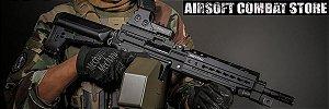 Rifle de Airsoft Calibre 6mm Elétrico Krytac Trident LMG Enhanced