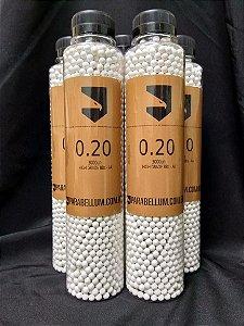 Esferas Plásticas 6mm Parabellum SRC BBs 0.20g Garrafa com 3000 un