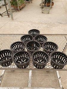 Kit 10 Vasos Importados Sofisticados Vazados Preto