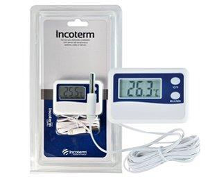 Termômetro Digital Máxima e Mínima Incoterm - Cabo 50 cm 7424.02.1.00