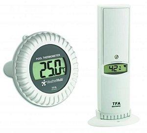 Termo-Higrômetro com Sensor para Piscina Weather Hub Incoterm T-SEN-0080.00