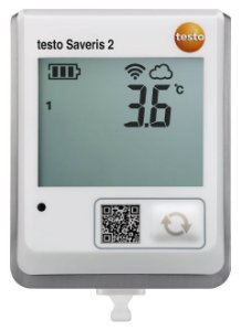 Testo Saveris 2-T1 - Registrador de dados WiFi com display e sonda de temperatura NTC integrada -0572 2031