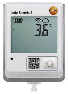 Testo Saveris 2-T1 - Registrador de dados WiFi com display e sonda de temperatura NTC integrada -0572 2031