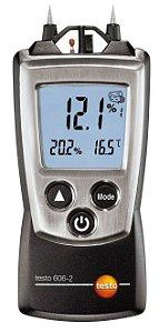 Testo 606-2 - Instrumento de bolso para a medição da humidade de  materiais, incluindo medição da humidade e temperatura ambiente-  0560 6062