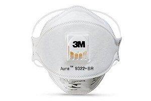 Máscara de proteção respiratória Descartável 3M Aura 9322+BR PFF-2(S)