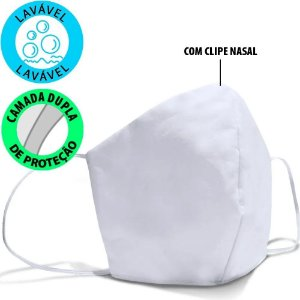 Kit 10 Máscaras Tecido 100% Algodão 180 Fios Lavável