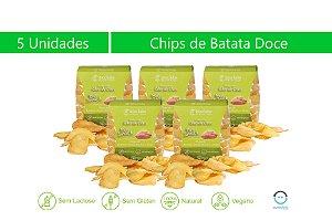 Kit com 5 pacotes de chips mix de batatas-doce branca e rosa