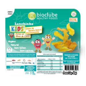 Lanchinho Kids Chips de Batata doce e mandioquinha - pack com 4 unidades