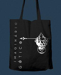 Ecobag Imaginário Gótico (preta com estampa branca)