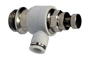 Valvula Controladora de Fluxo 8mm x 1/2