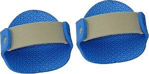 Luvas Musculação em E.V.A Azul/Cinza Masculino ( Par )