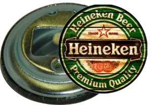 Chaveiro Abridor de Garrafa 5,5 Cm Heineken 03