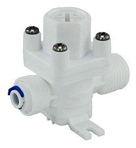 Válvula Reguladora de Pressão Rosca 1/2 x Conector Rapido 1/4