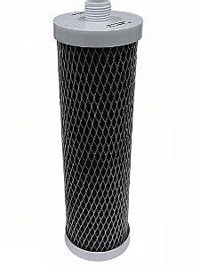 Elemento Filtrante Carvão Block 10 Polegadas / 5 Micras Com Rosca