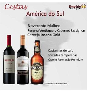 "Cesta de presente  ""America do Sul"""