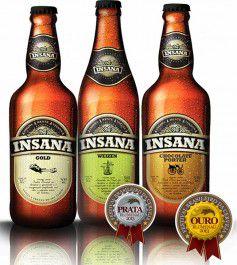 Kit Cerveja Insana com 3 garrafas 500ml -  Weizen + Porter + Gold