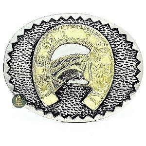 Fivela Country Cowboy Horseshoe SC1730